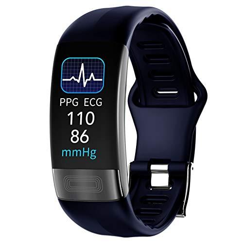 MBEN ECG + PPG-Überwachung Smart Watch Mit Überwachung Und Temperaturen, IP67 Wasserdichtes Fitness-Tracker-Armband-Blut-Sauerstoff-Atmungsrate-Überwachung-Android Und Ios,Blau