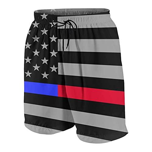 XCNGG Pantalones Cortos de Tabla Cortos de Carga Grande y Alta para Hombre Ropa Interior básica con Bolsillos-L- (14-16)