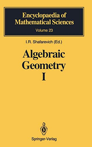 Algebraic Geometry I PDF Books