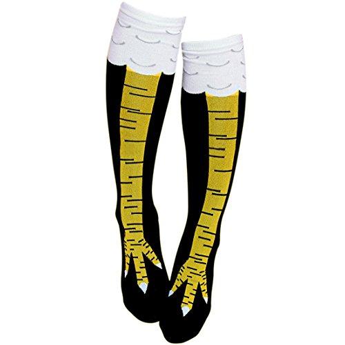 Gmark Fitness Novelty Socks, Women's Fun Chicken Legs Image Stockings Team Tube Socks 1 Pair Size Medium
