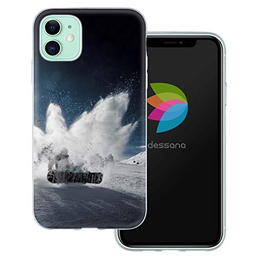 dessana Winter Sport transparente Schutzhülle Handy Case Cover Tasche für Apple iPhone 11 Snowboard Kunststück
