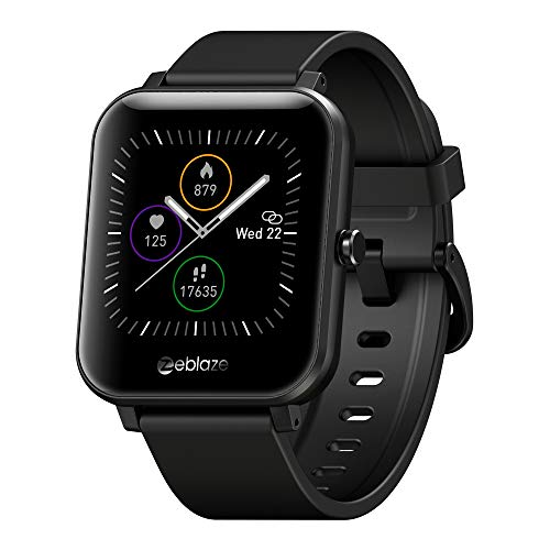 Smart Watch (Barometer + Altimeter + Compass), Full HD Touchscreen, All-Day Heart Rate and Activity Fitness Tracker, Pedometer, Calorie Counter, Sleep Tracker, Bluetooth smartwatch (Black)