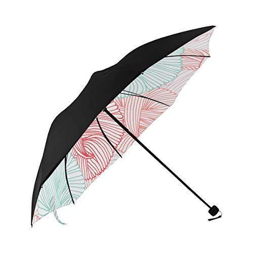 Travel Umbrella Women Colorful Wool Yarn Ball Underside Printing Best Umbrella Compact Vintage Sun Umbrella With 95% Uv Protection For Women Men Lady Girl