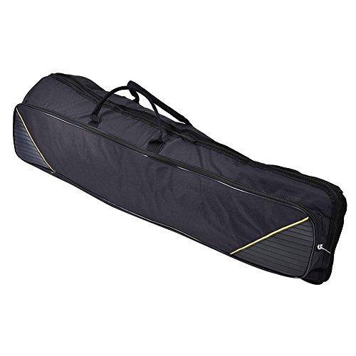 Dilwe Posaune Tasche, tragbare Alto/Tenorposaune Schultern Tasche Handtasche Musikinstrument Zubehör(Schwarz)
