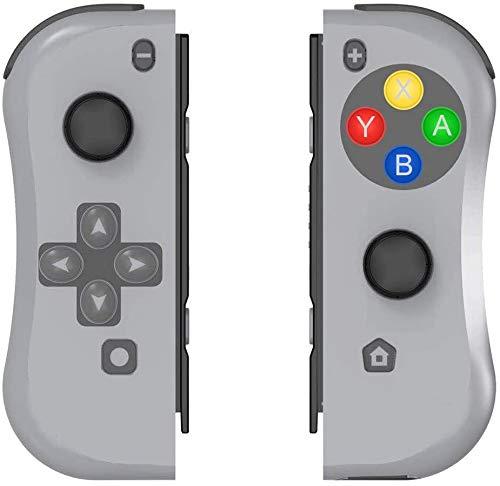 BestOff Controller für Nintendo Switch, Left und Right Controller Kompatibel für Nintendo Switch Console als Joy Con Controller-Grau