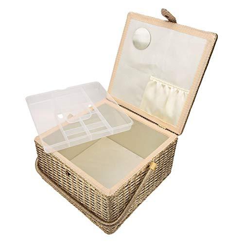 Caja de costura, caja de hilo de agujas, duradera para coser bordados con cojines de agujas, accesorio para tejer