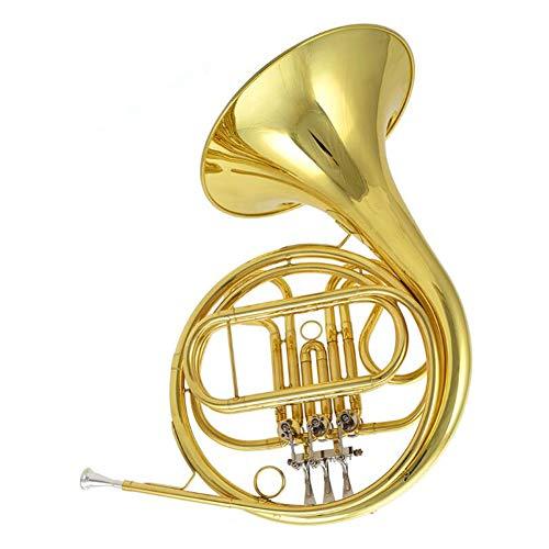 F Trompa de Latón Laca de Oro Cuerno Francés Acabado Niquelado con a Prueba de Choques Mochila Principiante Profesional Tocando Un Instrumento Musical de Clasificación