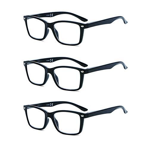 Suertree Feder Scharnier (3 Pack) Lesebrillen Sehhilfe Augenoptik Brille Lesehilfe für Damen Herren von 1.0X BM151