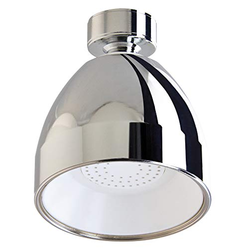 Siroflex Soffione Doccia 2765/2S, Rotondo con snodo in ottone cromato, doccia soffione con economizzatore amovibile, in ABS Anti Calcare, soffione doccia anticalcare, riduttore flusso risparmio acqua