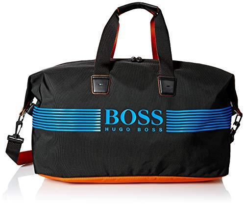 Hugo Boss Herren Pixel Nylon Weekender Bag Sportseesack, schwarz, Einheitsgröße