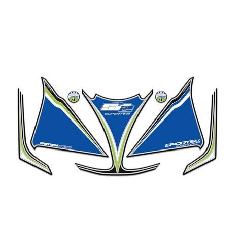 3D Gel Sticker Motorcycle Front Fairing Head Decorative Decal Number Board Protector For Suzuki SV650 SV1000 S 2003-2013 sv 650 -  SZYJ, WH-AMWD010