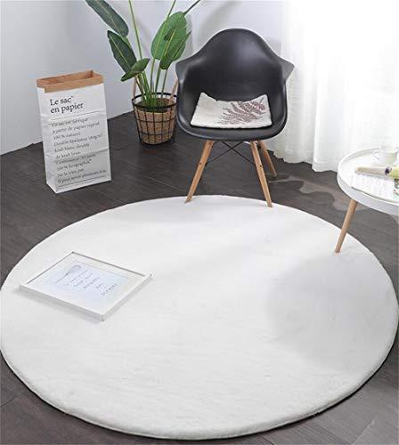 WJY Tapis Moelleux Rond Tapis Tapis De Yoga Anti-dérapant Salon Chambre Canapé Enfants Rampant Moquette (Color : F1, Size : 140cm)