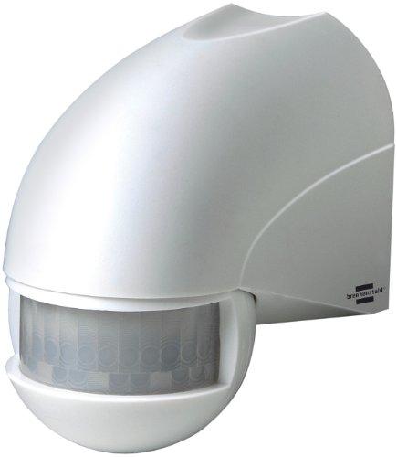Brennenstuhl Bewegungsmelder Infrarot / Bewegungssensor für Außen und Innen - IP44 (180° Erfassungswinkel und 12m Reichweite) weiß
