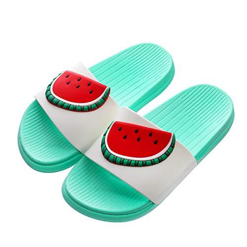 FOGOIN Pantoletten Kinder Badelatschen Mädchen Jungen Slides Badeschlappen mit Obst Muster Open Toe Slippers Badeschuhe für Herren Damen Gr 38/39