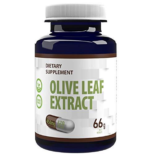 Estratto di foglie di olivo 450mg 120 capsule vegetali con 40% di oleuropeina - 180 mg, sistema immunitario, antiossidante, ricco di polifenoli