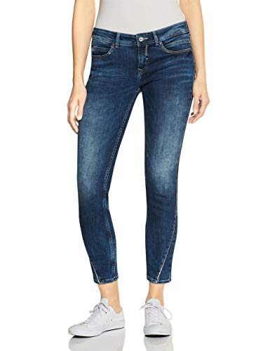 Street One Damen Jane Casual Fit Jeans, Midblue Random Bleached, W28/L30