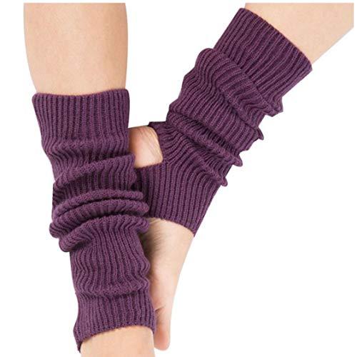 Bontand Yoga Calcetines Calcetines Toeless Formación De Danza Calentadores De La Pierna Para Muchachas De Mujeres