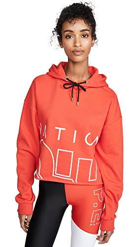 P.E NATION Women's Restart Hoodie, Red, Large