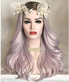 Clearance Sale! Exteren Curly Wig Women Fashion Lady Pink Gradient Long Curls Hair Cosplay Party Wig (Pink)