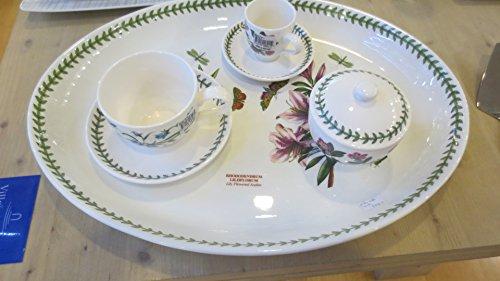 Portrmeirion Botanic Garden - Juego de 10 piezas (bandeja de porcelana, 51 m, azucarero, 2 tazas, desayunos, 6 tazas de café expreso)