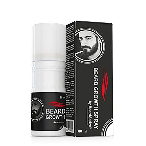 Weixinbuy Spray per la crescita della barba originale 60ml Barba Stimolatore 100% naturale Accelera la crescita della barba Olio per la crescita dei peli del viso