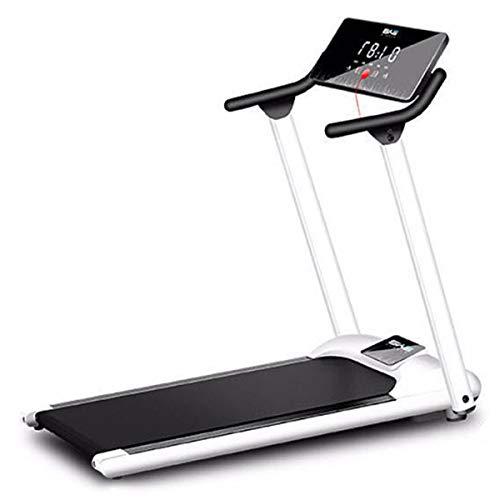 CRYPIN Laufbänder für Heim tragbar Falten Run Trainingsmaschine Elektro Treadmills Workout Fitness mit LCD-Schirm Breiten Laufflächengurt