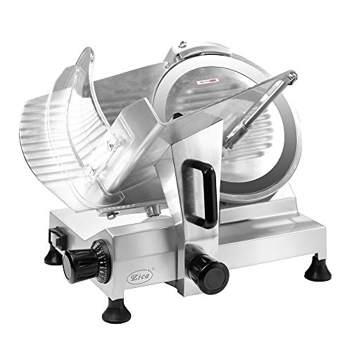 """Zica 12"""" Chrome-plated Carbon Steel Blade Electric Deli Meat Cheese Food Ham Slicer Commercial and for Home use ZBS-12A"""