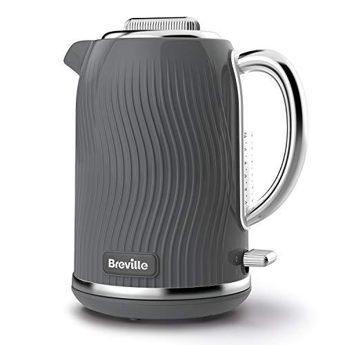 Breville VKT092 Flow - Hervidor eléctrico (1,7 L, 3 kW), color gris