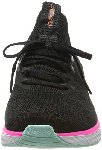 Skechers Solar Fuse, Zapatillas Deportivas Mujer, Negro (BKMT Black Knit Mesh/Multi Trim), 39 EU
