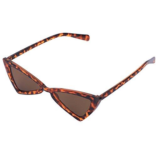 TOOGOO Gafas de Sol de Mujer Vintage Triangle-Sunglasses Gafas graduadas Leopardo