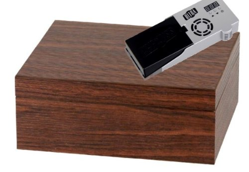 Cigar Oasis Ultra 2.0 Humidor Walnut Relief Design V-500