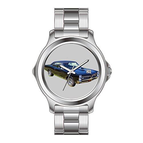 FDC Christmas Gift orologi da uomo moda data in acciaio INOX orologio da polso al quarzo giapponese 1967Pontiac Gto Muscle Car