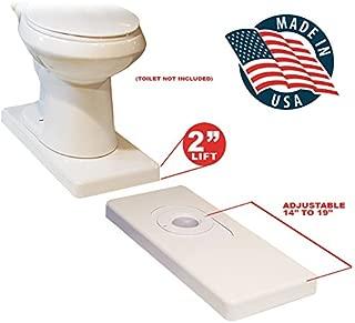 Extended Length Wheelchair Transfer Toilet Riser