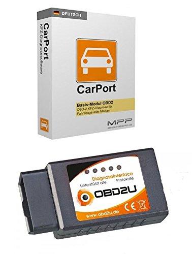 Bluetooth OBD 2 Diagnose-Interface Gerät Carport SOFTWARE DEUTSCH viele PKW