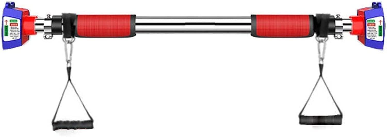 XEWNEG プルアップバードア、壁掛け大型ステンレス製スキッドトレーニング水平バー、ファミリーアッパーボディワークアウトバー (Size : 93-126CM)