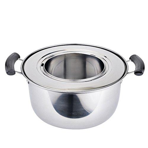 Verdickte Edelstahl Steamer gedämpft Klöße Kochtopf Dampfgarer Kochtopf Dampfgarer geeignet für 18–28cm