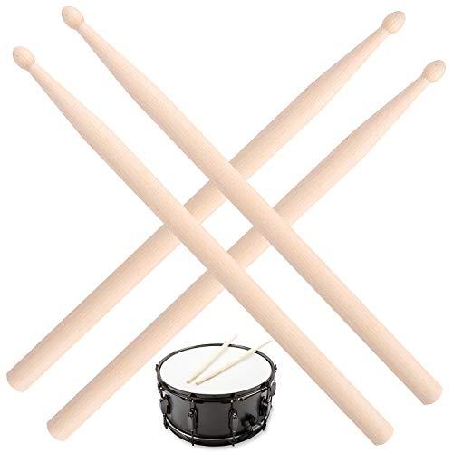 JJQHYC Schlagzeug Sticks 5a Ahornholz Drumsticks Schlagzeuger Anfänger Übungssticks für Percussion (2 Paar)