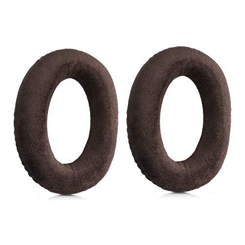 kwmobile Almohadillas Compatible con Sennheiser HD 559/569 / 599 - Set de Terciopelo para Cascos en marrón