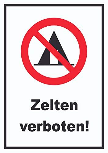 HB-Druck Zelten verboten Schild A4 (210x297mm)