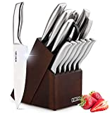 HOBO Knife Set, 14 Piece Kitchen Knifes Set with Block Wooden, Self Sharpening for Chef Knife Set with High Grade Polished Stainless Steel, Japan high-Carbon Stainless Steel Chef Knife, Steak Knives