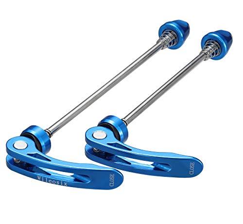 wilefive Fahrrad-Spieße, ultraleicht, Schnellspanner, für Rennrad, MTB, vorne und hinten (blau, MTB)
