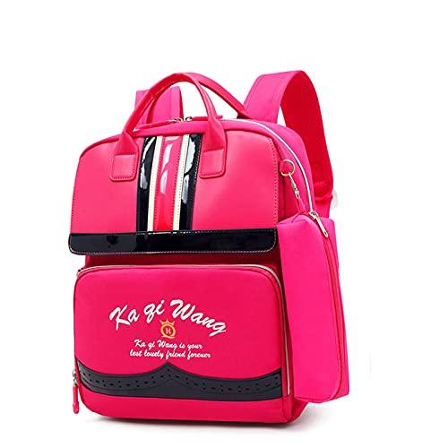 Mochila escolar de estilo británico, impermeable, neutral de alta densidad, tela Oxford, mochila de viaje Funky para estudiantes, mochila primaria de gran capacidad, ligera y transpirable (color rojo)