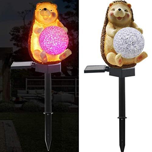 WINBST LED Solar-Gartenleuchte, Igel Ball Tier Lampe Rasen-Lampe wasserdichte Solar Automatische EIN/Aus Außenbeleuchtung Nachtlicht, Deko, Haus, Garten 43cm