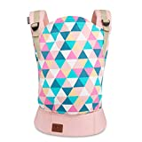 Kinderkraft Baby Carrier NINO Ergonomic Sling, Holder, Lightweight, Confortable, Ajustable, 2 Carrying Position: Front and Backpack, for Newborn, from 3 Month to 20 kg, Tested by IHDI, Pink