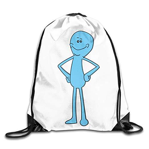 Hdadwy Mr Meeseeks Fashion Backpack Design Shoulder Drawstring Bag Man Woman Bags One Size