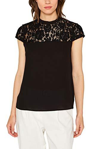 ESPRIT Collection Damen 079EO1F010 Bluse, Schwarz (Black 001), (Herstellergröße: 34)