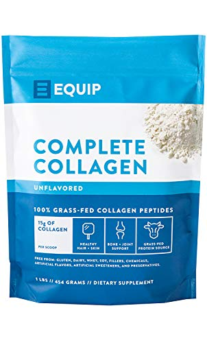 Hydrolyzed Collagen Peptides Powder Supplement: Vital as Grass-fed Bovine Collagen Drink Formula. Keto Protein Best as Supplements for Youthful Skin, Vibrant Hair, Nails for Women & Men by Equip