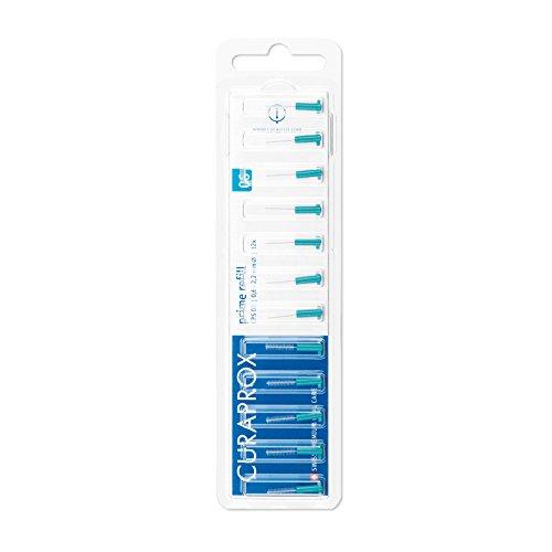 CURAPROX Interdentalbürsten, Größe 0,6mm, 12 Stk, für die Reinigung extrem schmaler Zahnzwischenräume, Zahnreiniger Bürstchen, CPS 06 prime Interdental Bürsten