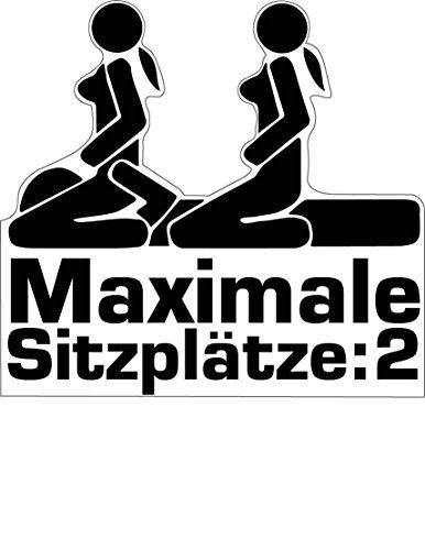 Aufkleber Sticker Maximale Sitzplätze JDM Tuning Autoaufkleber Fun Lustig Stickerbomb Sex Girls
