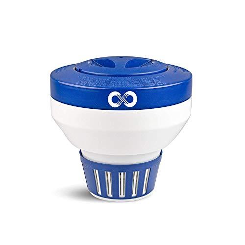 "Aquabeacon Pool Large Chlorine Floater for 3"" Chlorine Tablets - Optimal & Enhanced Control with 15 Flow Vents - Premium Pool Chlorine Tablet Dispenser"